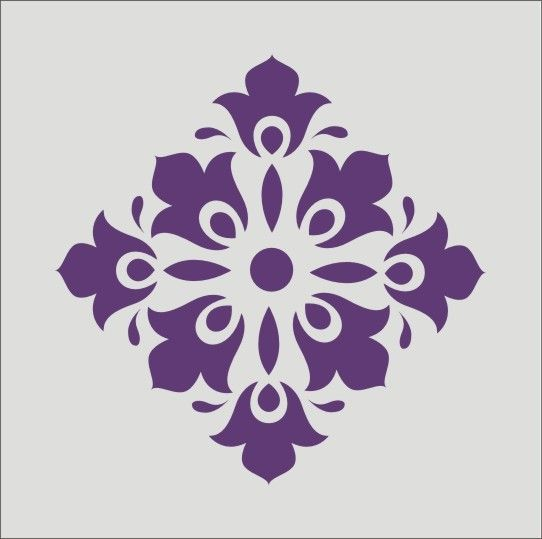 Wall Stencil damask flourish design image is by oklahomastencil, $5.95