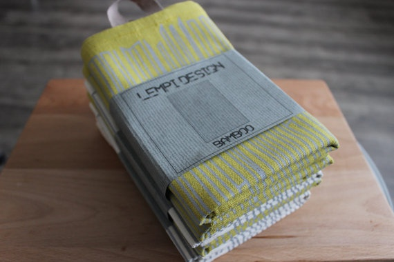 Tea Towel BAMBOO set of two of your choise by LEMPIDESIGN on Etsy, $52.00
