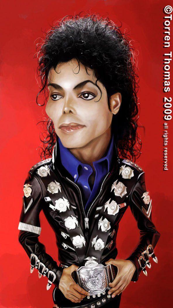 Michael Jackson #Caricature #FunnyFaces
