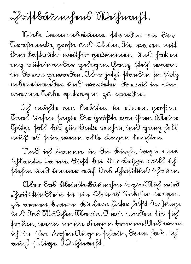 Sütterlin-Beispiel
