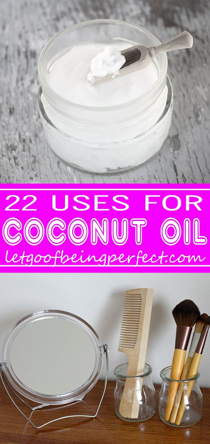 22 Awesome Uses for Coconut Oil - Coconut oil is one of nature's superfoods. This list shows you 22 fantastic uses for coconut oil. Great for hair, skin, food, baby, and even furniture! You can find refined or unrefined coconut oil right in your grocery store aisle. Explore the web site for more craft tutorials, dozens of cute refashionista and fashion ideas with good, clear photos and instructions. http://letgoofbeingperfect.com