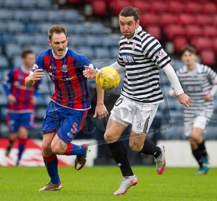 Queen's Park's Chris Duggan on the ball during the SPFL League Two game between Queen's Park and Elgin City.