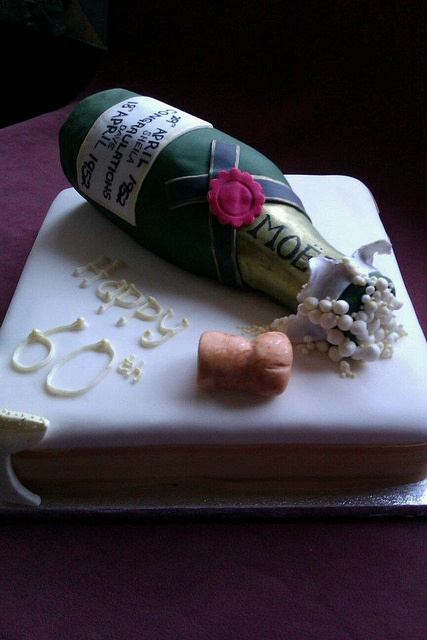 Champaign 60th Birthday Cake Personalised With Names In
