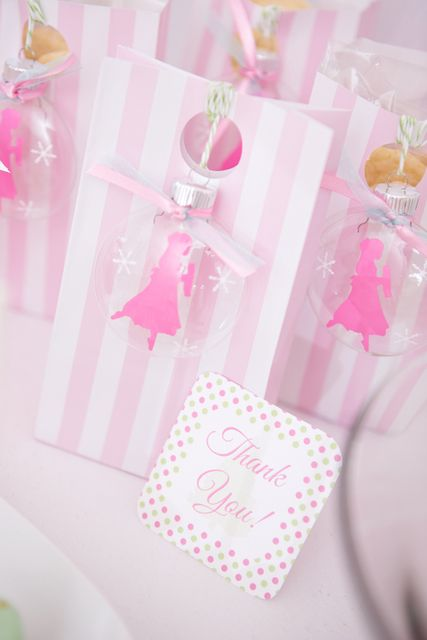 Lovely favors at a Fairy Princess party!  See more party ideas at CatchMyParty.com!  #partyideas #christmas
