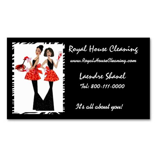 House Cleaning Business Cards | Cleaning business cards ...