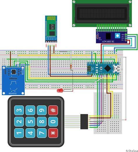 arduino rfid door lock | Technology | Arduino, Door lock