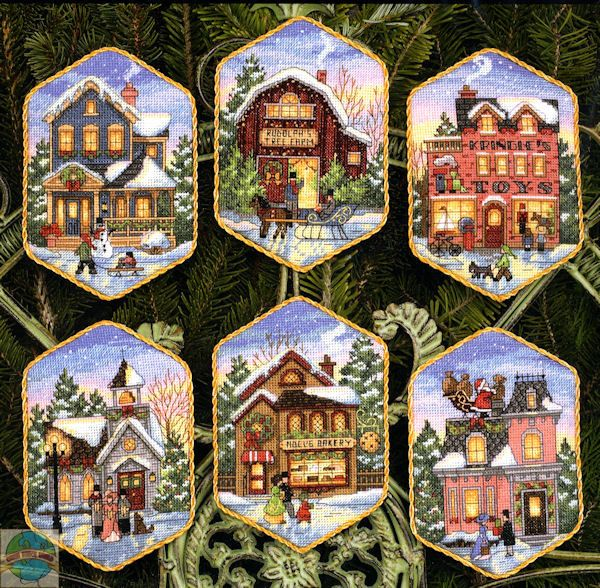 Gallery.ru / Dimensions (08785) Christmas Village Ornaments - Запас хомячка :))) - f-morgan