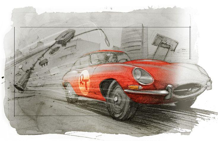 Jaguar type E par Amaury Brumauld