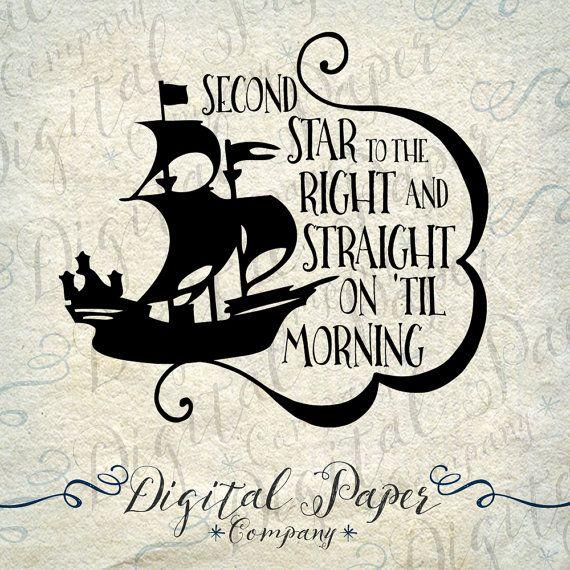 Peter Pan Pirate Ship citation étoile SVG par DigitalPaperCompany                                                                                                                                                                                 Plus