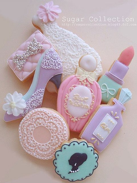 girly cookies....adorable!