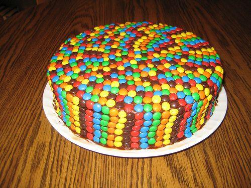 M & M Cake by Sheehan Family, via Flickr