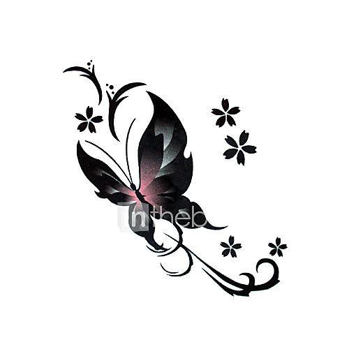 5 stuks vlinder waterproof tijdelijke tatoeage (6cm * 6cm) 2017 - €1.17