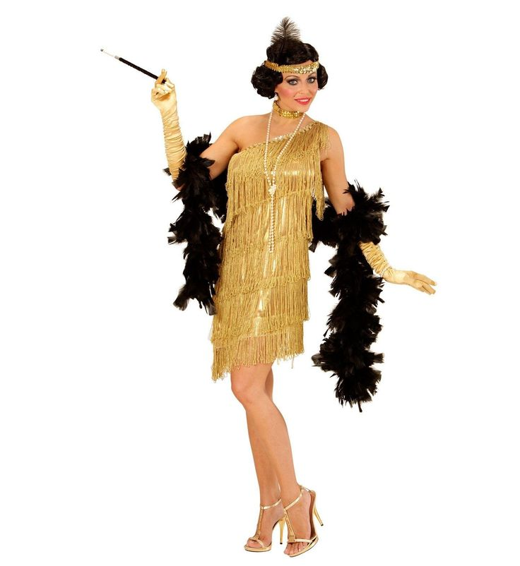 Elegante gouden flapper jurk