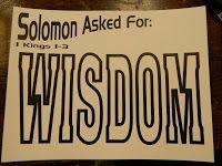 Hands On Bible Teacher: Solomon Asks For Wisdom