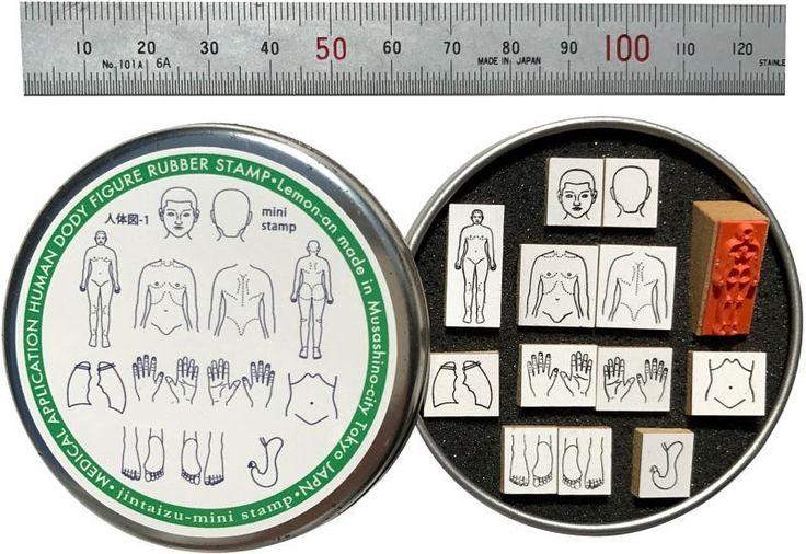 メンタム缶入りミニ人体図ゴム印