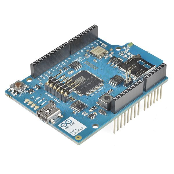Arduino Wi-Fi Shield - DEV-11287 - SparkFun Electronics