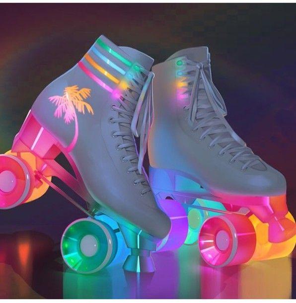 Shoes: Lights, Skater Girl, Roller Skates, Rollerblade