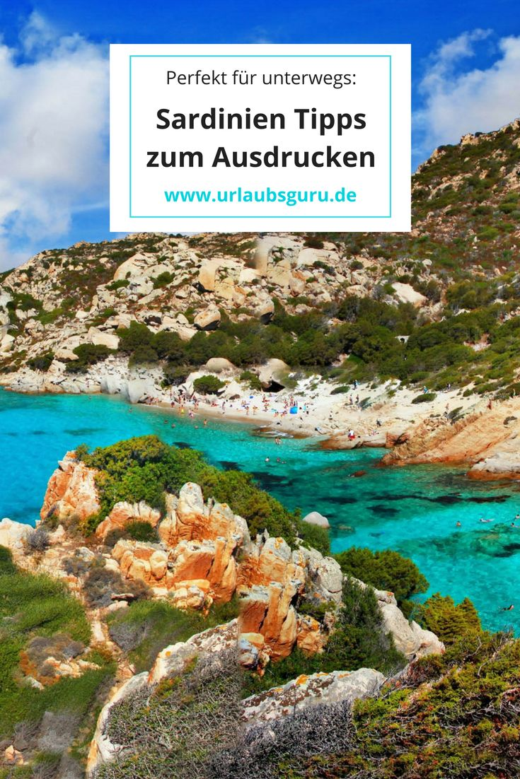 Ihr wollt euren Reiseführer mit in den Urlaub nehmen? Hier findet ihr die besten Sardinien Tipps zum Ausdrucken und Abspeichern!