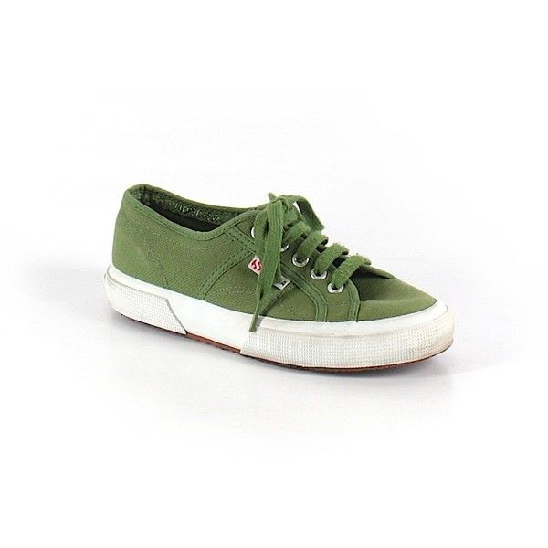 Pre-owned Superga Sneakers ($18) ❤ liked on Polyvore featuring shoes, sneakers, green, green sneakers, superga shoes, superga, pre owned shoes and green shoes