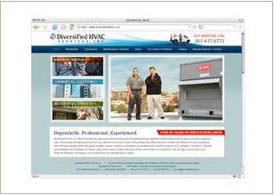 Web site design © Think Baseline, for Diversified HVAC Services Inc (HVAC-R Services) #web design #graphic design http://www.diversifiedhvac.com/