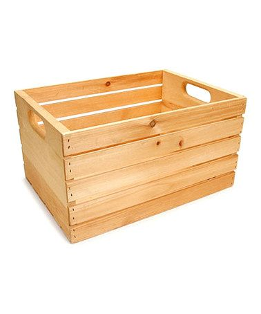 Another great find on #zulily! Vintage Wooden Crate #zulilyfinds