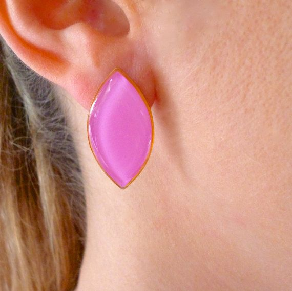 Hey, I found this really awesome Etsy listing at https://www.etsy.com/listing/270789401/rhombus-earrings-rhombus-studs-pink