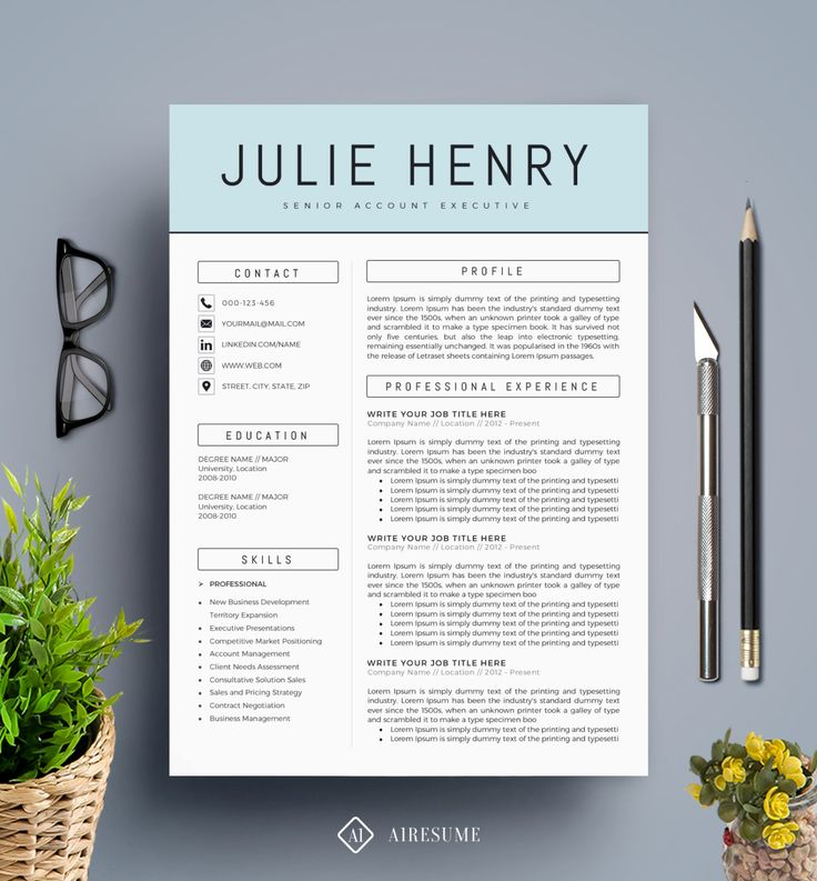 https://www.etsy.com/listing/245240137/modern-resume-template-cv-template-cover