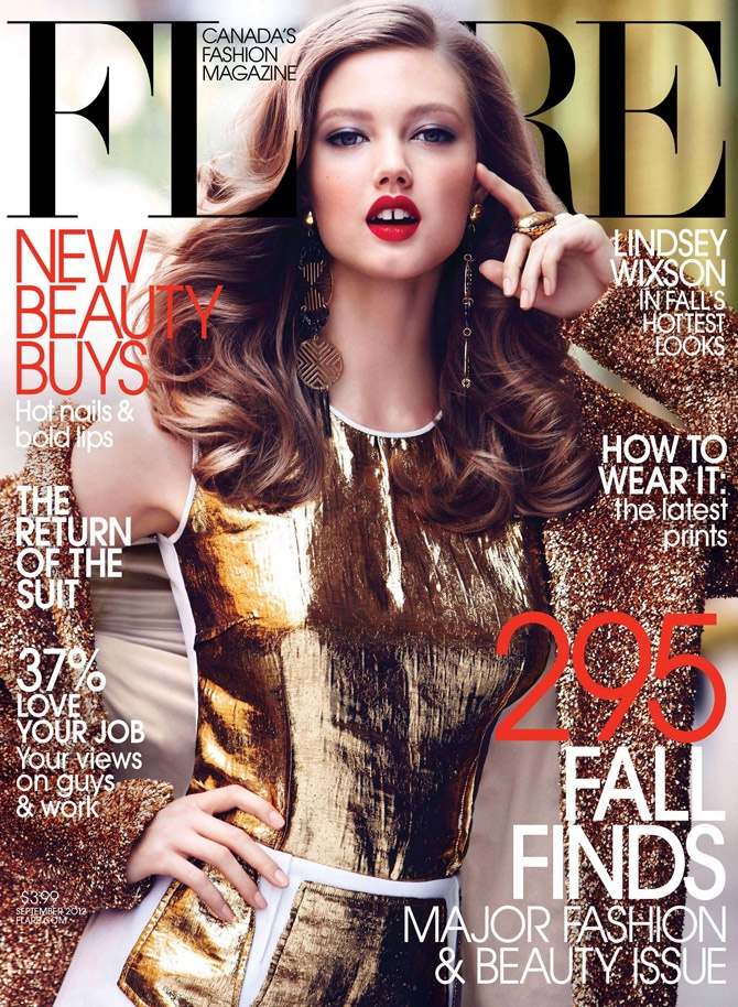 Max Abadian / Lindsey Wixson for Flare September cover by Max Abadian on http://www.themeatmarket.coArt Director, Lindsey Wixson, Flare Magazines, Flare September, Max Abadian, Fashion Magazines, September 2012, Magazines Covers, Lindseywixson