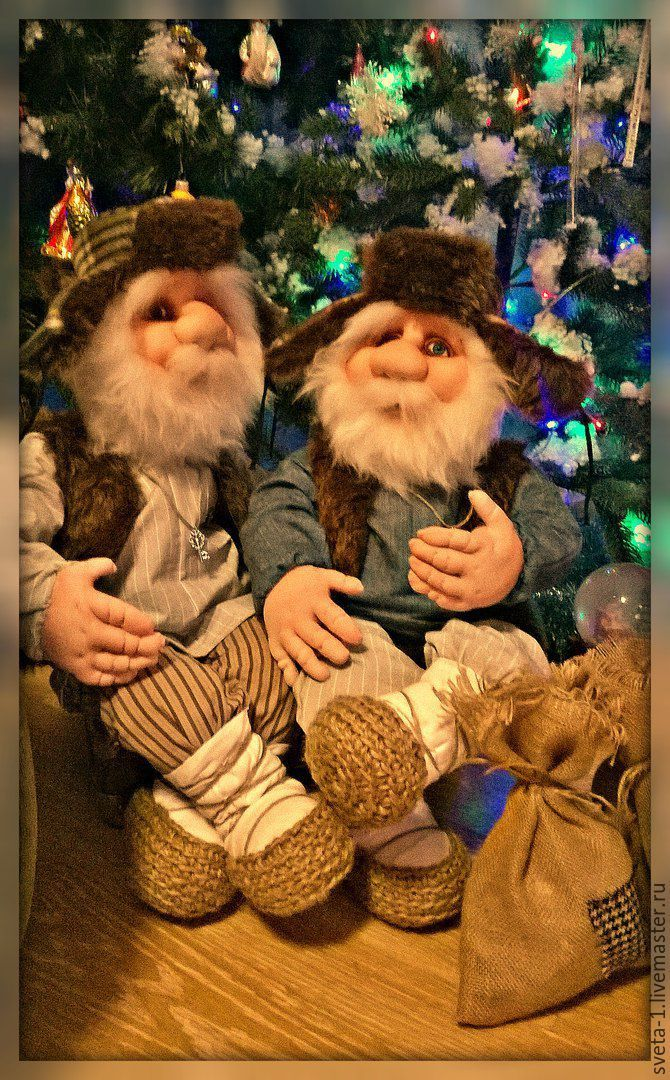 Купить домовые - серый, домовой, оберег для дома, оберег для семьи, интерьерная кукла