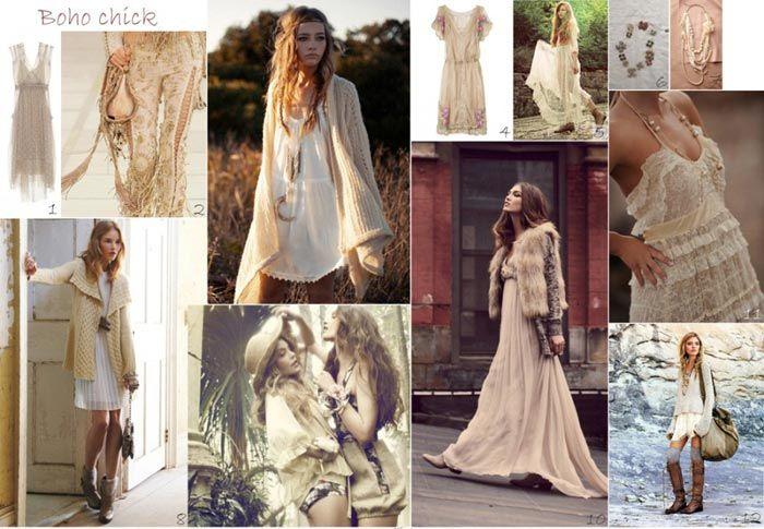 Особенности бохо-стиля. Круженые платья и вязанные накидки