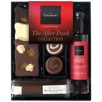 HOTEL CHOCOLAT-FOOD - DRINK AND GIFTS-Hampers-Hotel Chocolat After Dark Collection with Tawny Port, 135g-£15.00-A beautiful selection of solid and filled chocolates, along with a bottle of port, to treat a special person on Valentine's Day. This collection includes a bottle of tawny port, trio of dizzy pralines, mini hazelnut bche, white chocolate nano slab, dark chocolate nano slab with cocoa nibs and fruit and nut milk chocolate nano slab. Refund policy We can't offer refunds or exchanges…
