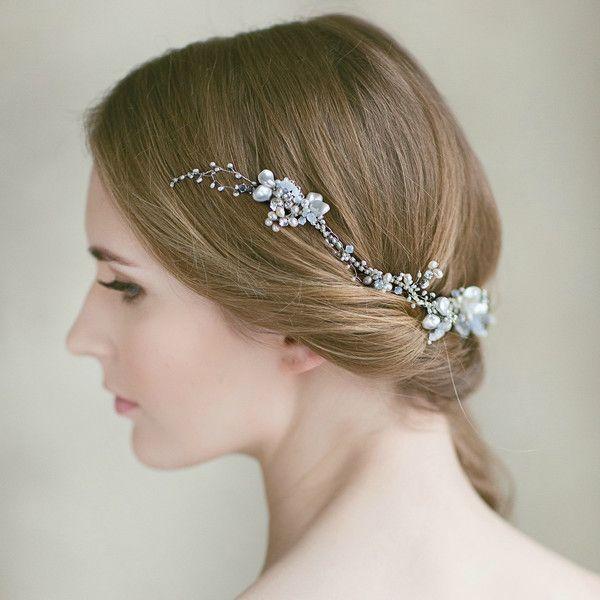 Bridal hair bun wrap   LavenderByJurgita