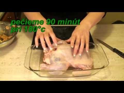 Pečené kura s plnkou - recept na plnene kura, flv