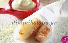 Στήθος κοτόπουλου πανέ με σάλτσα μουστάρδας | Dina Nikolaou