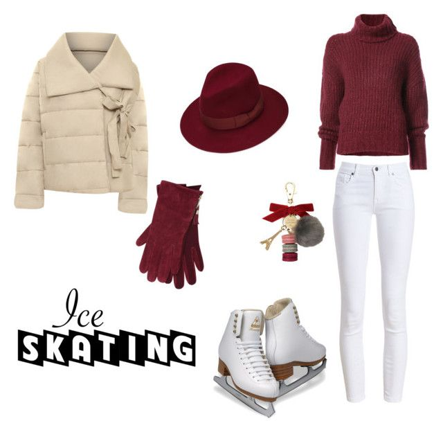 """let it snow"" by rosaleen996 ❤ liked on Polyvore featuring Barbour, BY. Bonnie Young, M&Co, Justine Hats, WearAll, Ladurée and iceskatingoutfit"