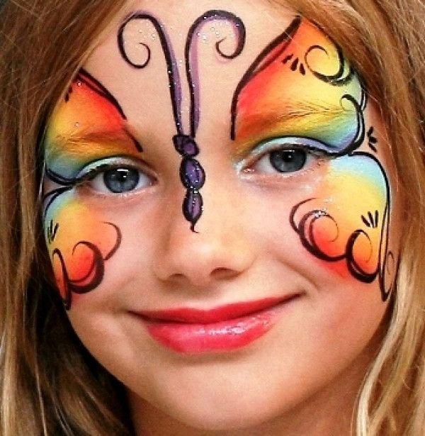 maquillage papillon facile - Recherche Google                                                                                                                                                      Más