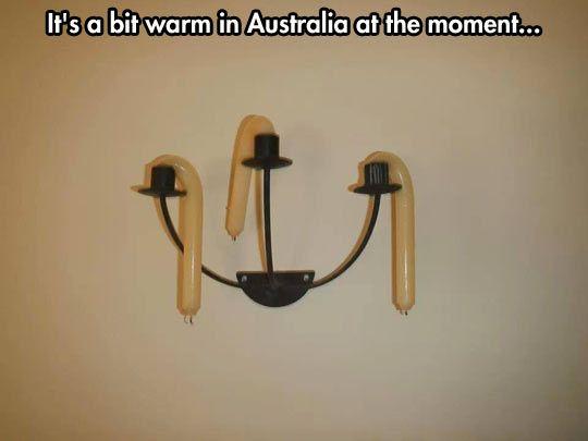 It's hot in Australia...