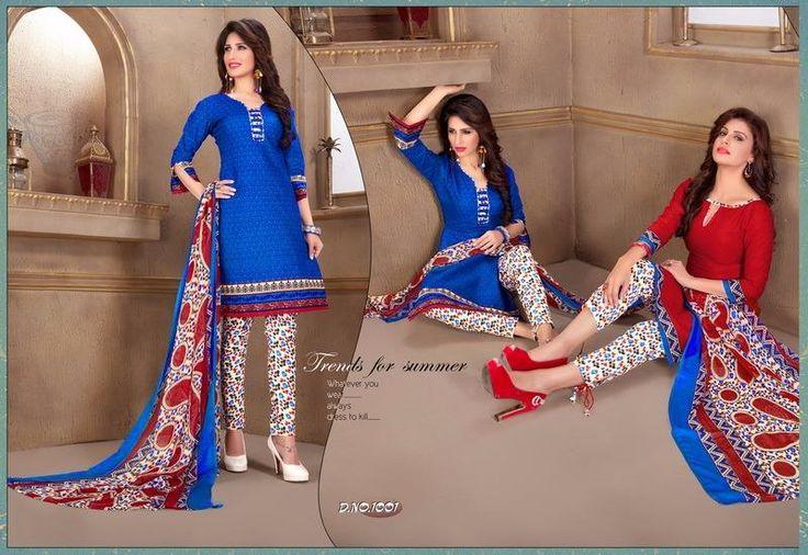 Buy Designer Anokhi 2 Top Print Vol-1 Dress Material