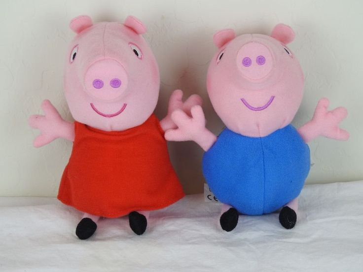 PEPPA PIG and GEORGE PIG Lot of 2 Stuffed Animals Fast Ship US Seller #ABDLtd
