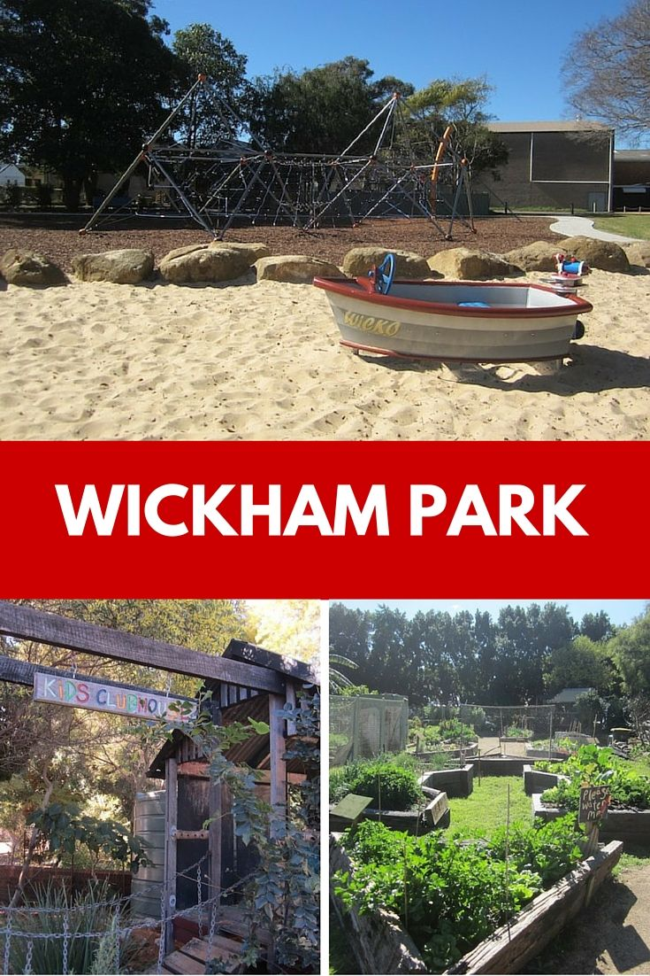 A large climbing structure, a flying fox and even a boat makes Wickham Park a fun playground for kids.