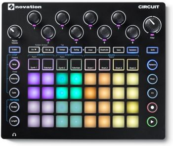 Portable 4 x 8 Pad Matrix Synthesizer Workstation with 2 Nova Series Synth Engines, 4-part Drum Machine, Effects, 128-step Sequencer, and Onboard Speaker