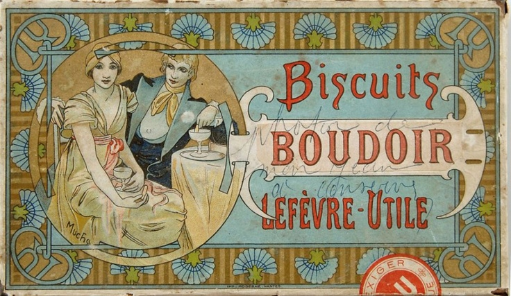 Mucha product design for Lefevre-Utile Biscuits