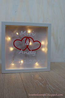 krötenkrempel: Lichtrahmen als Hochzeitsgeschenk