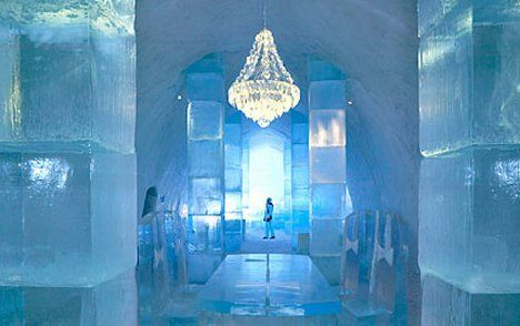 Ice Hotel, Kiruna, Lapland, Sweden  Cold comforts: Temperatures in the Ice Hotel can be -5C
