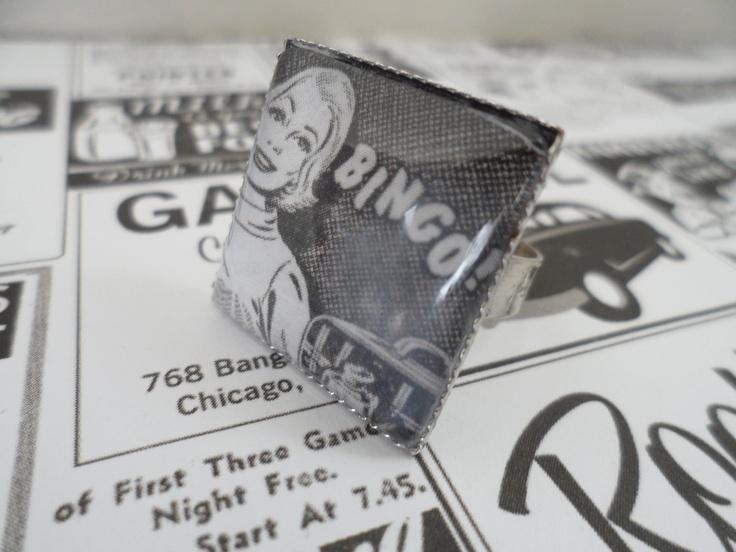"""Retro """"Bingo"""" Lady. $13.00, via Etsy."""