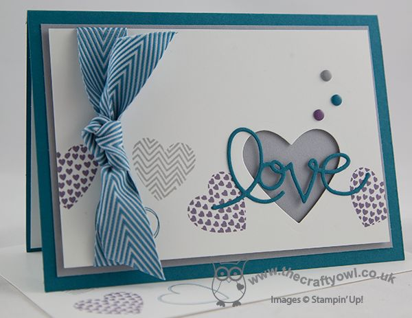 Masculine Love CCMC286 Valentine's, Anniversary, Expressions Thinlits, Hearts Framelits, Hearts A Flutter, Candy Dots, Joanne James Independent UK Stampin' Up! Demonstrator, blog.thecraftyowl.co.uk