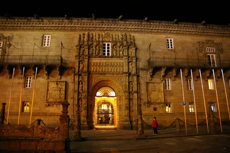 """Parador """"Hostal Dos Reis Catolicos"""" Santiago de Compostela, Spain - the oldest hotel in the world (except I think the beds were 500 years old, too!)"""