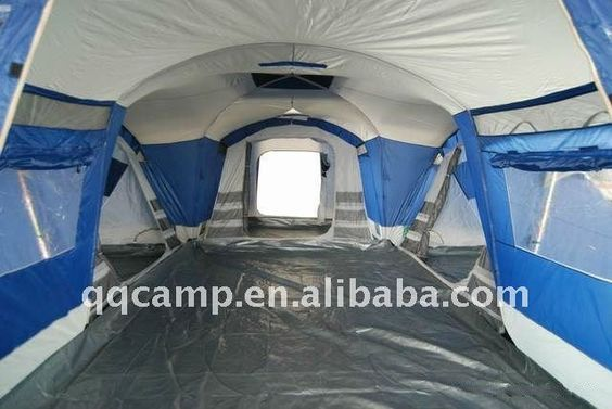High quality 3 rooms ,one hall large Family tent for camping