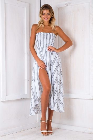 Morocco nights maxi dress - Blue/Grey $75