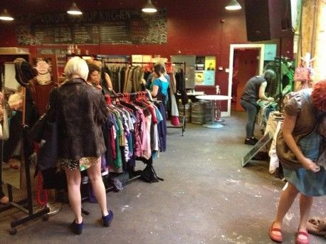 Waste Not Clothes Swap at Soup Kitchen.